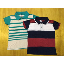 Kit Camisa Polo 2 Ao 8 Anos Infantil Conforme As Fotos