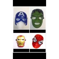 4 Máscara Homen Ferro+capitão América + Hulk+homem Aranha