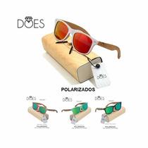 Lentes De Sol Polarizados Does Bamboo Unisex, Ultima Moda!