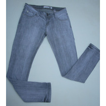 Jeans Pitillo Gris Fes Talla 40 Elasticado.