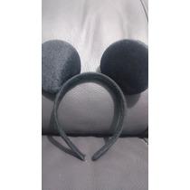 Diadema Mickey Mouse Raton Negro Peluche Economica Fiesta