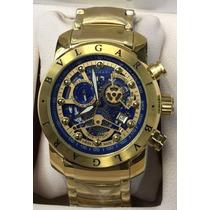 Relógio Iron Man Subaqua Masculino Azul Skeleton Sedex 12x