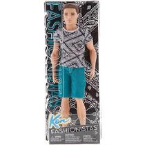 Boneco Ken Fashionista Moreno Mattel Barbie