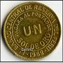 Dante42 Moneda Peru Bronce Un Sol De Oro 1962