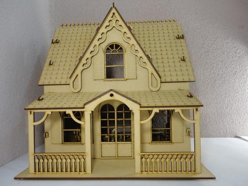 Casa de mu ecas marie hecho en madera mdf rompecabezas 3d en mercado libre - Casa de munecas teatro ...