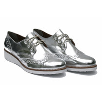 Sapato Sapatenis Oxford Feminino Verniz