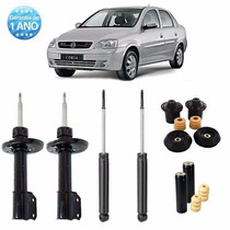 04 Amortecedor Corsa Sedan 2008 2009 2010 2011 2012 + Kit