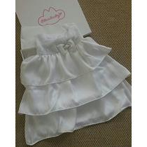 Kit Vestido Branco Batizado Lilica Ripilica Baby Dama Honra