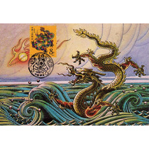 Ch59 China Chinese Horoscope Year Of Dragón Postcard-