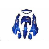 Kit Plásticos Carenagem Honda Biz 100 Azul 2001+adesivo