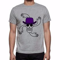Camiseta Cinza Mescla One Piece Nico Robin A Criança Demônio