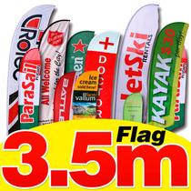 Flag Banner 3.50 Metros Impresas En Sublimación, Banderas