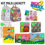 Kit Set Combo Canasta Escolar Milo Lockett Con Mochila Nro12