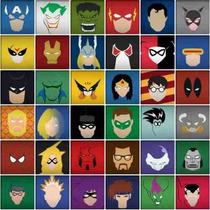 Adesivos De Parede Azulejos Super Heróis Marvel Dc Infantil