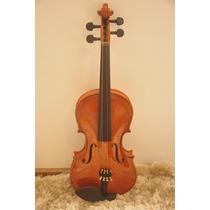 Violino 3/4 Top Ambar Completo Com Case Luxo E Frete Gratis