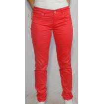 Pantalón De Gabardina Rojo, Octanos Oficial - Luxury
