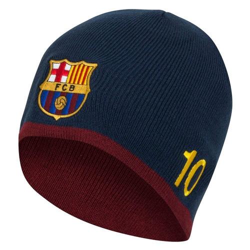 1e4f0a45b9dbf Club Con Licencia Barcelona Messi 10 Gorro De Lana Tejido ...