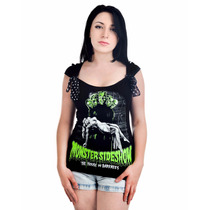 Blusa Monster Sideshow Too Fast Goth Punk Monstruos Clasicos