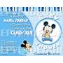 Tarjetas De Invitacion Baby Shower Minnie O Mickey