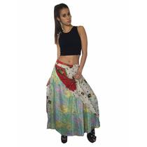 Indira Pollera Larga Vestido Seda Fiesta Varios Usos