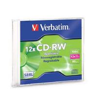Disco Compacto Verbatim 95161 Rw 12x 80 Min 700mb Caja Slim