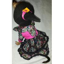 Disfraz Mascota Vestido Halloween Brujita Perrita Gato