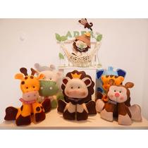 Enfeite Porta Maternidade Safari+8 Animais 20cm Frete Gratis