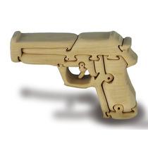 3d Puzzle - Pistola Handcrafted Madera Para Niños Juguete J