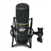 Microfone Condensador Skp Para Studio Sks-420 Duas Cápsulas