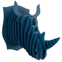 Rinoceronte Azul Cabeza Decorativa Animal Valchromat 8 Mm