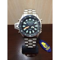 Relógio Aqualand Atlantis Modelo Citizen Série Prata Jp2000