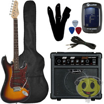 Kit Guitarra Strato Giannini G-100 + Cubo Mg10 - Kadu Som