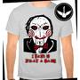 Camiseta Jogos Mortais Saw Ou Baby Look Filme Terror Camisa