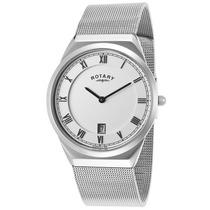Reloj Rotary Gb02609-21 Es Mesh Stainless Steel White Dial