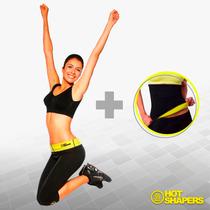 Faja Combo Pantalón Capri M+ Cinturilla Lisa Hot Shaper S/m