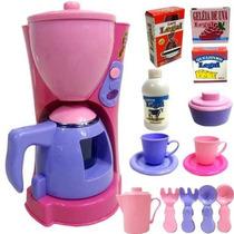Cafeteira Infantil Kit Brinquedo Utensílios Cozinha Braskit