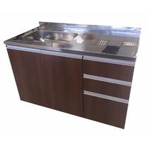 Muebles De Cocina Manija Aluminio, Mesada Acero 1.20 Mts