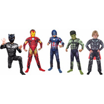 Disfraz Iron Man Hulk Thor Capitan America Blackpanther Musc