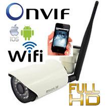 Câmera Ip Alta Resolução Wireless Wifi 2.0mp Onvif Externa
