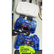 Ps1 Playstation One + 2 Controles + 5 Jogos