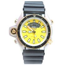 Relógio Masculino Citz Em Aqualand Prata E Amarelo Jp2004
