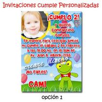 Sapo Pepe: 25 Invitaciones Personalizadas + 1 Cartel Regalo!