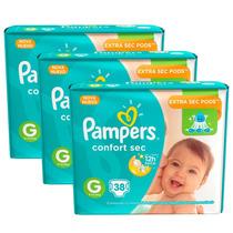 Fralda Pampers Confort Sec G 114 Unidades