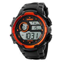Reloj Digital Hombre Skmei 1113 Naranja