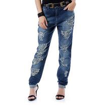 Calça Jeans Boyfriend Feminina Denuncia