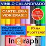Oportunidad Unica! Vinilo Calandrado 61x50 Rollo Cerrado