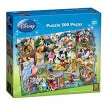 Quebra Cabeça Com 500 Peças Personagens Disney, Grow