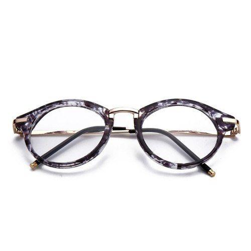 Óculos Armação Acetato Mármore Feminino Redondo Com Metal - R  59,99 em  Mercado Livre 5e278b94fa