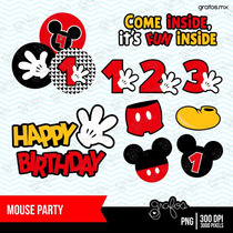 Kit Imprimible Mickey Mouse 5 Imagenes Clipart