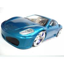 Carrinho Rc Perfect Ferrari Led Nas Roda Acend Farol Toys Az